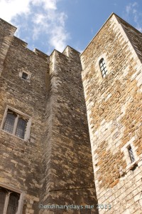 Looking up at Dover Castle
